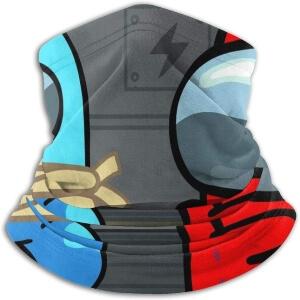 Bandana personaje azul atado con personaje rojo Among Us