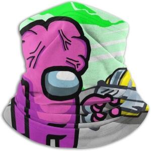 Bandana personaje rosa con pistola Among Us