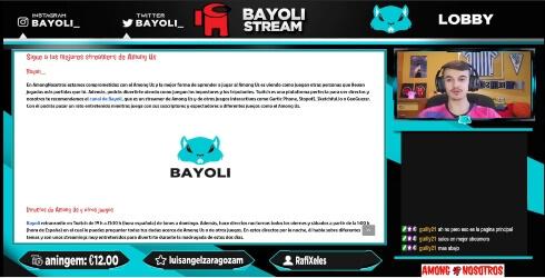 Bayoli reacciona a AmongNosotros