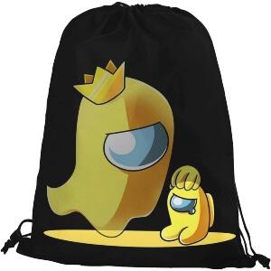 Bolsa con cordones fantasma amarillo con personaje amarillo mini Among Us