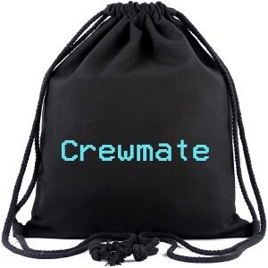 Bolsa con cordones letras crewmate Among Us