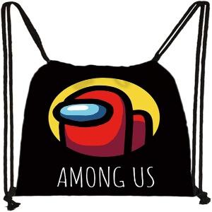 Bolsa con cordones logotipo Among Us