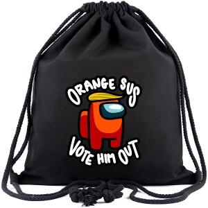 Bolsa con cordones orange sus Among Us