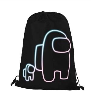 Bolsa con cordones personaje con personaje mini Among Us