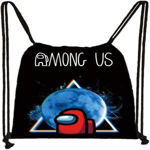 Bolsa con cordones personaje rojo con luna Among Us