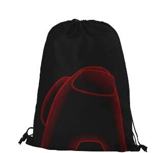 Bolsa con cordones personaje rojo flojo Among Us