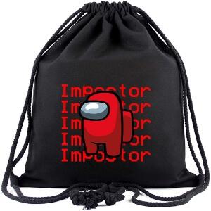 Bolsa con cordones personaje rojo impostor Among Us