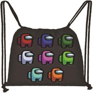 Bolsa con cordones personajes diferentes colores Among Us