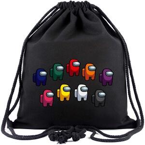 Bolsa con cordones personajes distintos colores Among Us