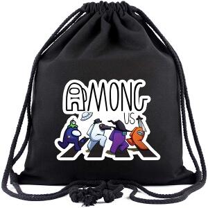 Bolsa con cordones personajes en paso de cebra Among Us