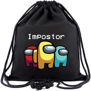 Bolsa con cordones tres impostores Among Us