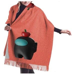 Bufanda personaje 3D con manzana Among Us