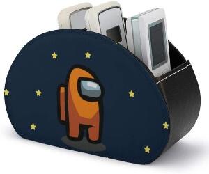 Caja de almacenamiento personaje naranja Among Us