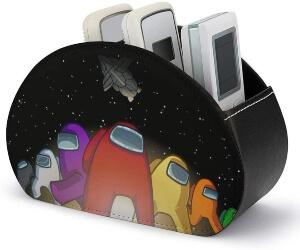 Caja de almacenamiento personajes con nave espacial Among Us