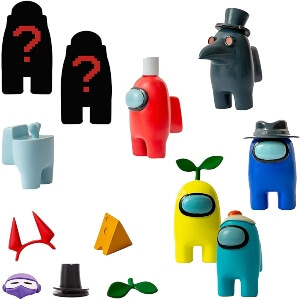 Cajas con dos figuras sorpresa de Among Us