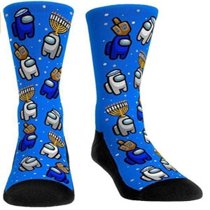 Calcetines personajes con fondo azul Among Us