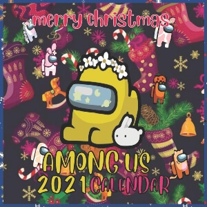 Calendario 2021 personaje amarillo navidad Among Us