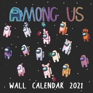 Calendario 2021 personajes con atuendos Among Us