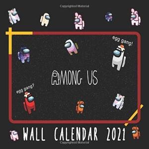 Calendario 2021 personajes con diferentes atuendos Among Us