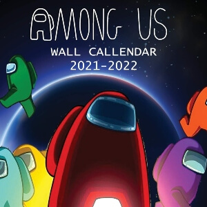 Calendario 2021 personajes con luna Among Us