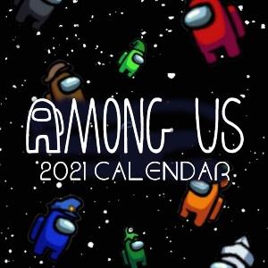 Calendario 2021 personajes en el espacio Among Us