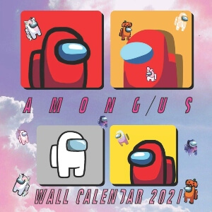 Calendario 2021 personajes en rectangulos Among Us
