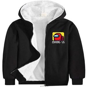 Chaqueta negra logotipo Among Us