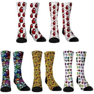 Cinco calcetines Among Us