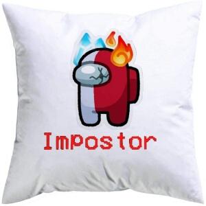 Cojin impostor agua y fuego Among Us