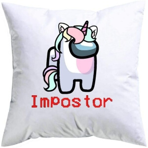 Cojin unicornio impostor Among Us