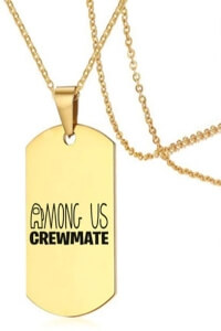Collar crewmate letras Among Us
