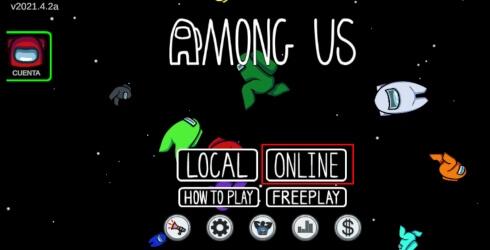 Como jugar una partida online en Among Us