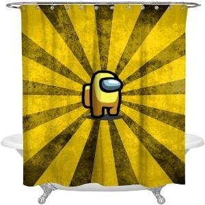 Cortina de ducha personaje amarillo Among Us
