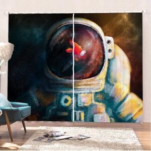 Cortinas antiruido casco astronauta con personaje Among Us
