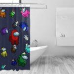 Cortinas de ducha en una bañera Among Us