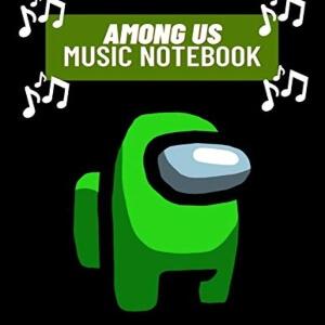 Cuadernos de musica personaje verde de Among Us