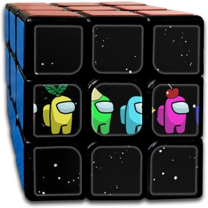 Cubo Rubik cuatro personajes Among Us