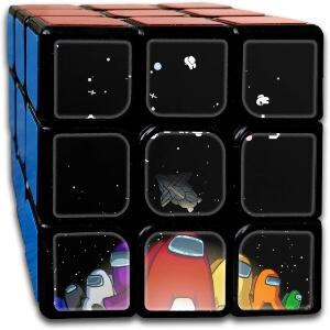 Cubo Rubik personajes con nave Among Us