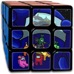 Cubo Rubik personajes en la nave Among Us