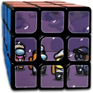Cubo Rubik personajes nevando Among Us