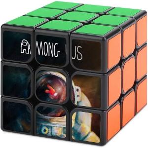 Cubo de Rubik casco astronauta con personaje rojo Among Us
