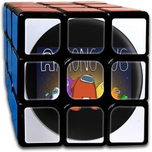 Cubo de Rubik personajes con letras Among Us