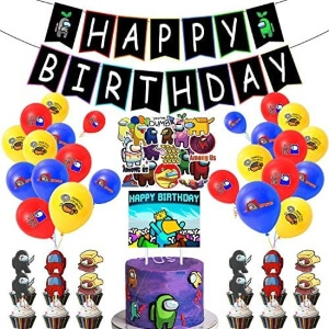 Decoracion celebracion cumpleaños Among Us