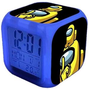 Despertador personaje amarillo con personaje amarillo mini Among Us