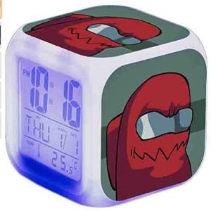 Despertador personaje rojo Among Us