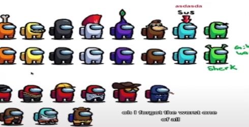 Diseños de los personajes de Among Us descartados por los desarrolladores