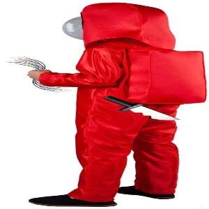 Disfraz niños personaje rojo Among Us