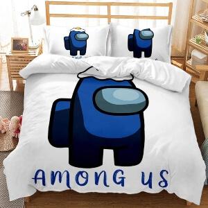 Edredon personaje azul Among Us