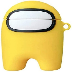 Estuche auriculares personaje amarillo Among Us