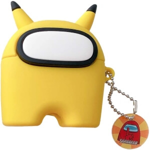 Funda auriculares inalambricos pokemon pikachu Among Us